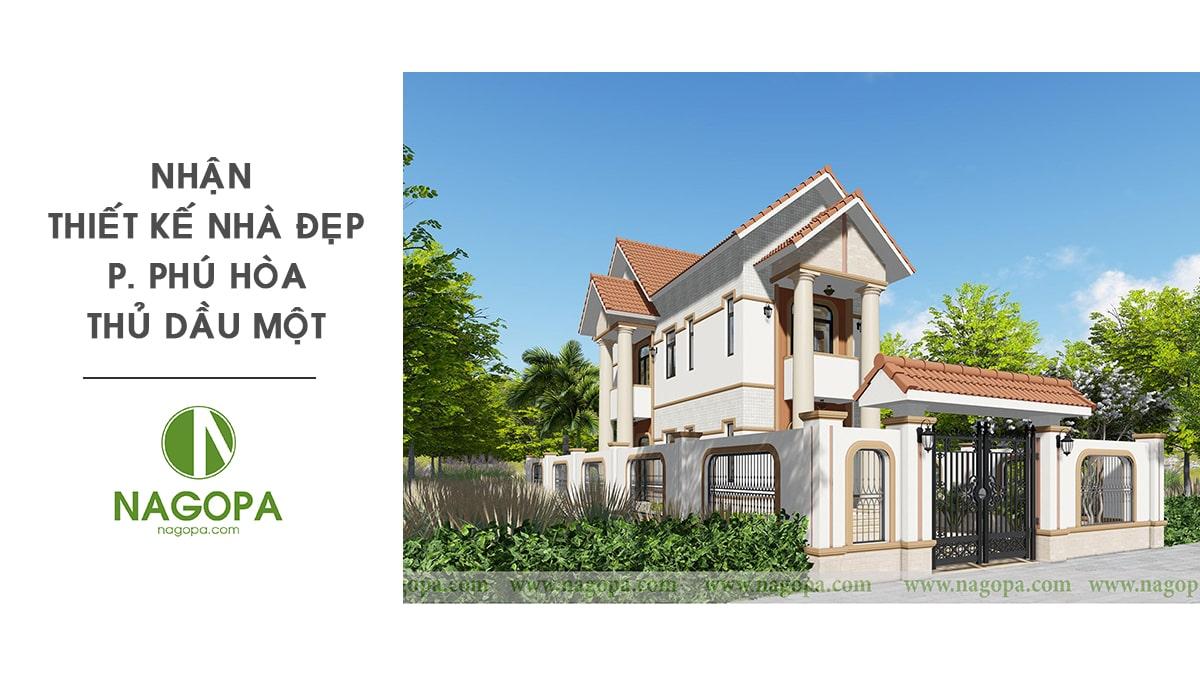 nhận thiết kế nhà đẹp phường phú hòa thủ dầu một