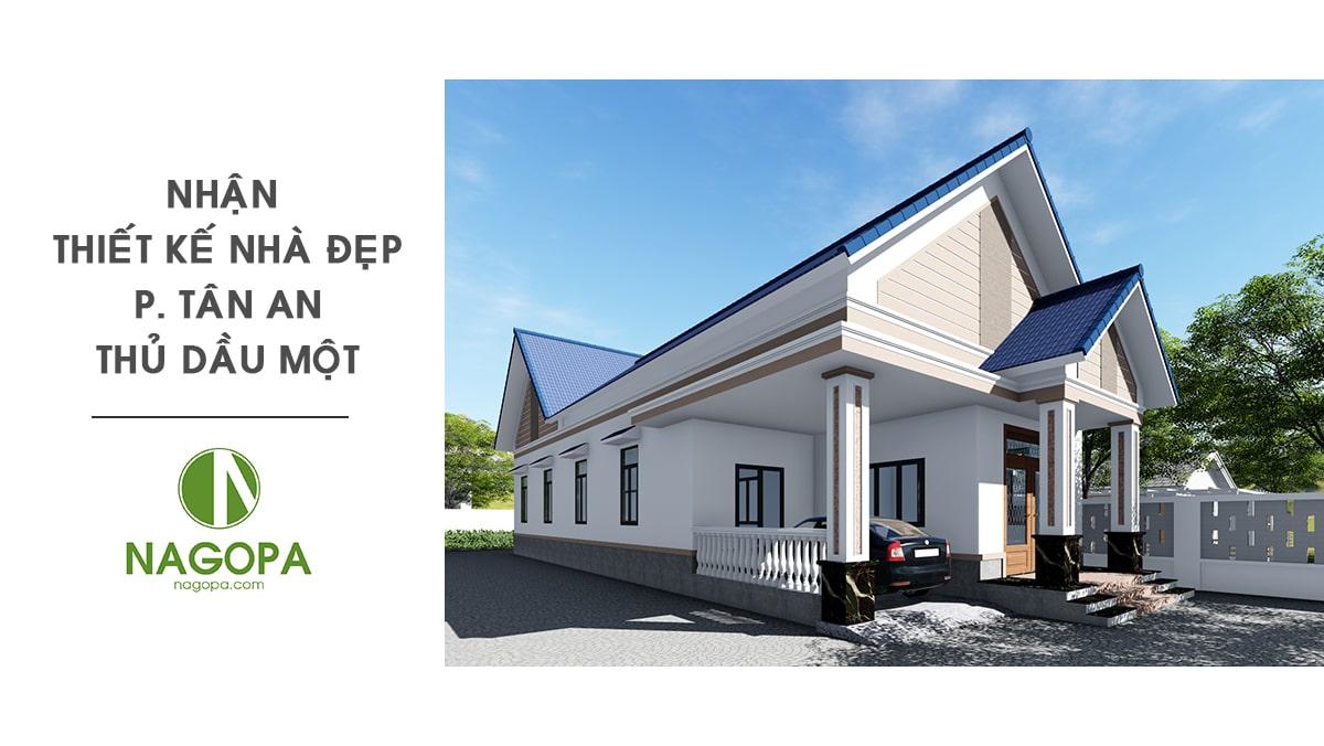 nhận thiết kế nhà đẹp phường tân an thủ dầu một